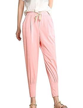 Tallas Grandes Mujer Sueltos Pantalones Cómodo Casual Harem Pantalon Con Cintura Elástica