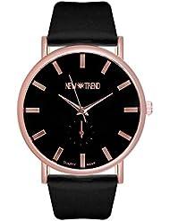 Reloj negro de la tendencia de diseño de reloj de pulsera para mujer con cronógrafo de imitación de oro rosa de oro rosa de oro rosa pulsera de oro rojo dorado bitácoras Bloggeruhr con cristales