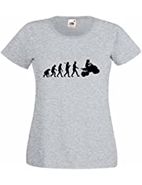 Evolution of Quad Biking Ladies Heather T-Shirt with Black Print