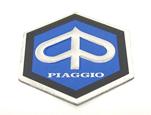 Preisvergleich Produktbild Piaggio Logo Emblem Sticker Aufkleber 26mm - Beverly Free Hexagon Liberty NRG Sfera TPH Zip Roller Scooter #68