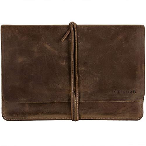 STILORD 'Collin' Vintage Tablettasche Leder Universal für 9.7-10.1 Zoll Tablethülle Schutz Organizer Ledertasche echtes Rindsleder, Farbe:mittel - braun -