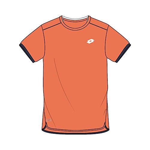 Lotto AYDEX IV tee B - Camiseta, Niño, Naranja(Ora 805/NVY)