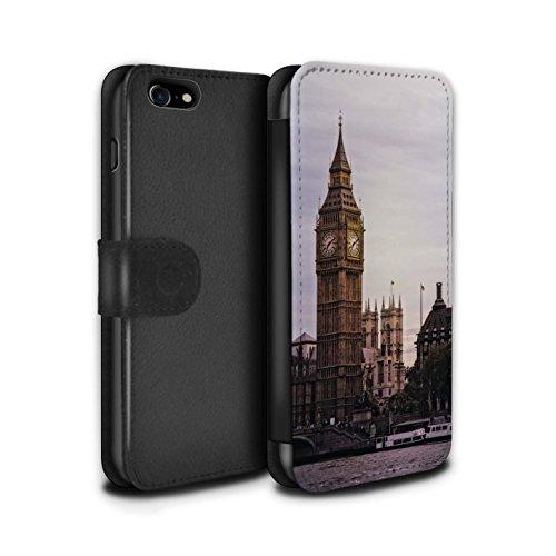 Stuff4 Coque/Etui/Housse Cuir PU Case/Cover pour Apple iPhone 8 / Pack 14pcs Design / Sites Londres Collection Big Ben