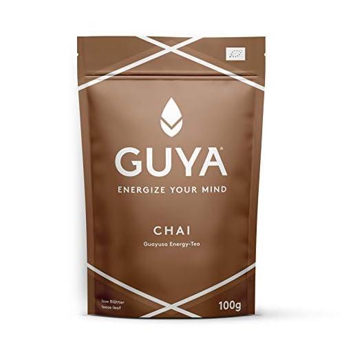 GUYA-Bio-Guayusa-CHAI-INFUSION-100g-lose-Energize-Your-Mind-fr-mehr-Konzentration-mehr-Leistung-mehr-Kreativitt-100-natrlicher-Bio-Energy-Drink-Tee-reich-an-Koffein-und-L-Theanin