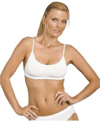 SALB-WH-B - Sally Microfibre Sports Bra for Women