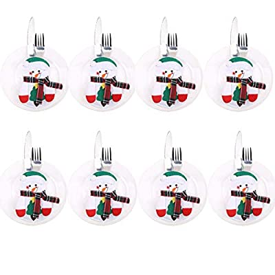 Christmas Set Cutlery Suit Decor Table Dinner Silverware Holders Pockets Knifes Forks Tableware Bags Xmas Party Decoration for Home Restaurant Dining Room : everything 5 pounds (or less!)