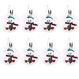 Portaposate Costume da Babbo Natale, Natale, decorazione per tavolo (8pcs)