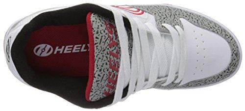 Heelys Mens Motion Plus Fashion Sneaker White/Grey/Elephant Print