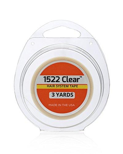 Walker Tape 1522 Clear | Kleber zum täglichem Auf- und Absetzen von Perücken, Toupees und Haarteilen | 3/4'' x 3 Yrds