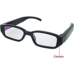 Mini Cam,Flylinktech HD Mini Spy Brille Versteckte Kamera Eyewear DVR Camcorder mit Versteckter Sport Kamera (Schwarz)