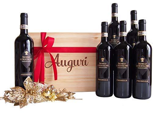 Cassetta Regalo Auguri Vino Brunello di Montalcino dalla Toscana - Idea Regalo Vino Top per Occasioni Importanti - cod 81