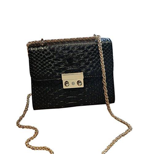 Transer Women Shoulder Bag Popular Girls Hand Bag Ladies PU Leather Handbag, Borsa a spalla donna Pink 18cm(L)*14(H)*8cm(W) Black