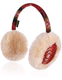 IKEPOD Kids Girl Boy Australian Sheepskin Wool Earmuffs, Fur Winter Ear Warmer