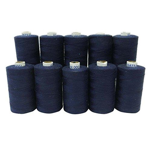 10 Pcs Polyester Spool Bleu gros Machine à coudre à la main Fil à quilter Spu