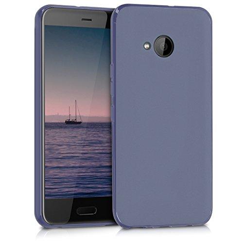 kwmobile Hülle für HTC U11 Life - TPU Silikon Backcover Case Handy Schutzhülle - Cover Dunkelblau matt