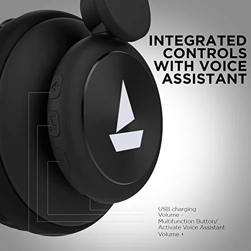 boAt Rockerz 450 Wireless Bluetooth Headphone (Luscious Black) Image 6
