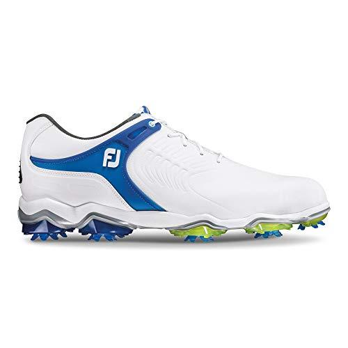 Footjoy Herren Tour S Golfschuhe, Weiß (Blanco/Azul 55301), 43 EU (Footjoy 10 Schuhe Sport Golf)