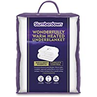 Slumberdown Wonderfully Warm Electric Blanket, White, Super King