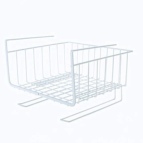 Xiamo Küche Aufbewahrungsbox unter dem Regal Drahtgitter Schrank Korb Eisen Speicher Geschirr Tasse Aufbewahrungsbox Halterung Küchenwerkzeug hängen