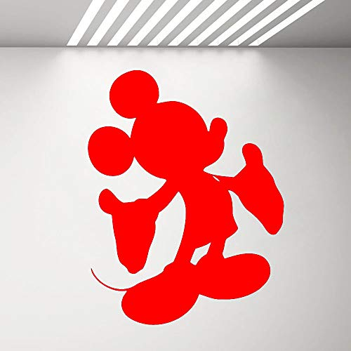 zqyjhkou Vinyl Wall Decal Aufkleber Kinderzimmer Dekor Maus Wandaufkleber Home Decor Schlafzimmer Wohnzimmer Kinderzimmer Aufkleber 4 57x74 cm