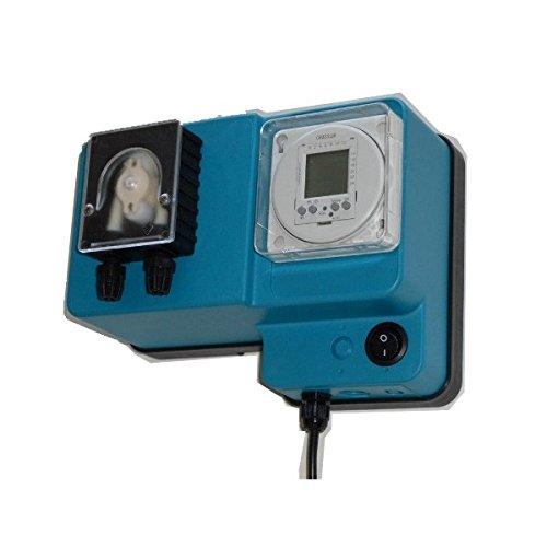 Pompa dosatrice peristaltica con portata fissa temporizzata per dosaggio liquidi modello MP1-Timer - 2 l/h 12 Vdc, tubo membrana santoprene con kit solare fotovoltaico 100 W