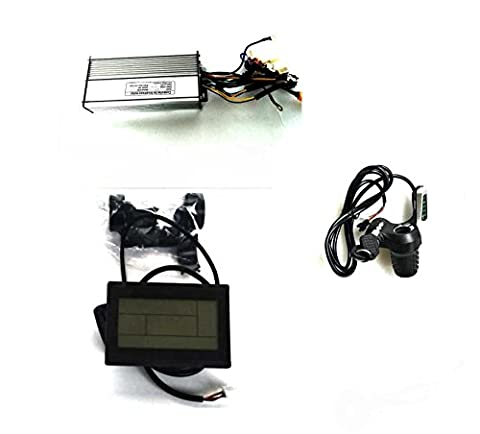 35A Sine Wave Controller + LCD Control Panel + Twist Throttle +Brake Lever+PAS For 48V 1000W-1200W BLDC Motor (Controller + LCD +