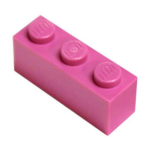 Lego City–20piedras con 1x 3Grano en rosa oscuro