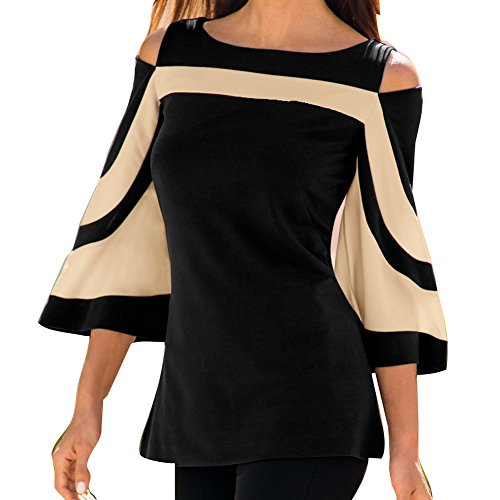 Juleya camicetta donna camicie maniche a pipistrello jumper signora top sling aderenti camicia a righe contrasto colore camicetta lavoro moderno