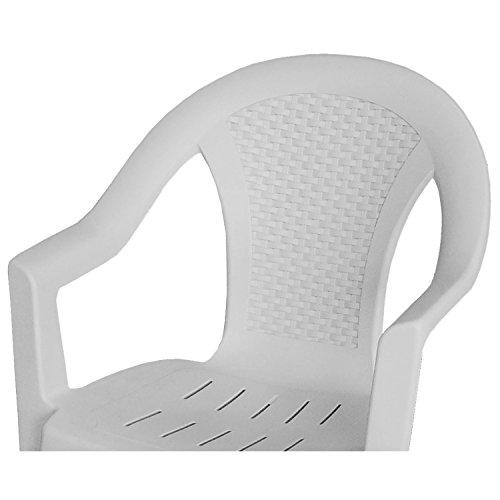 Einfaches Set 6+1 Kunststoff in Weiß - 3