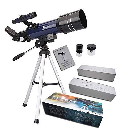 GEERTOP Ultra-KlarHochwertige AstronomischeLinsenteleskopmit Tischstativ & Sucherfernrohr, 400x70mm, fürAnfängerHimmel-Gaffer & Teens