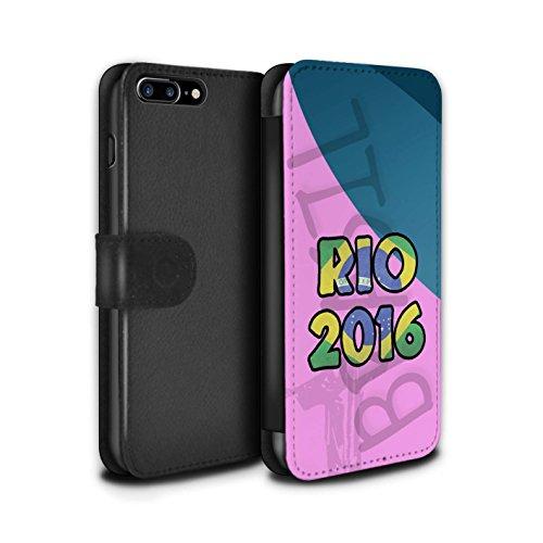 Stuff4 Coque/Etui/Housse Cuir PU Case/Cover pour Apple iPhone 7 Plus / Pack 5pcs Design / Brésil Amour Rio 2016 Collection Rose