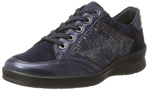 Semler Xenia, Zapatos de Cordones Brogue para Mujer, Gris (Perle 015), 41 1/3 EU