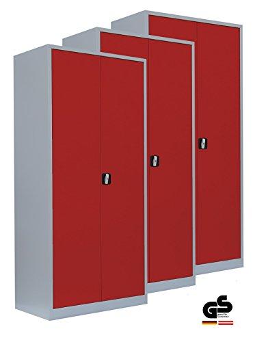 Werkstattschrank 3er-Set - Metallschrank Stahlschrank Werkzeugschrank Aktenschrank Büroschrank...