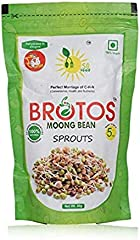 BROTOS Moong Bean Sprouts with Masala Sachet Inside, 80g(After rehdration it gives 250 gm)
