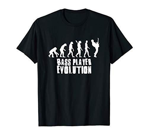 Bass Player Evolution Shirt - Lustiges Bassisten Geschenk T-Shirt