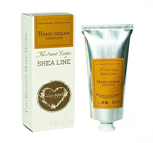Exclusive Handcreme mit Shea-Butter (20%) und Schokolade (80 ml). Perfekte Schutz! Sehr effizient! (Shea-butter Feuchtigkeitsspendende Hand Soap)