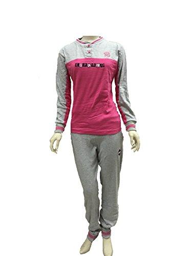 pigiama tuta donna RENATO BALESTRA caldo cotone art.RI53 (TG.M, GRIGIO)