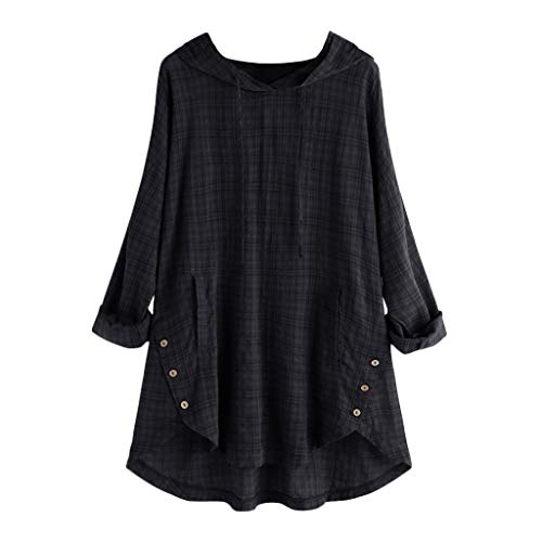 40cn Top MT Grande Vjgoal Pull Femme Femmes Chemisier Manches Shirt Taille À Capuche Haut Noir Débardeurfr Longues Print qSVpGjUMLz