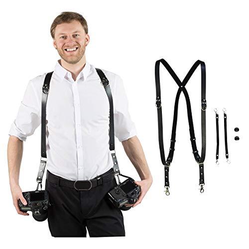 Homelex Doppel Schulter Multi Kameragurt PU Ledergurtriemen Schulter (Dual Schulter) -