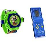 24 Images Kids Toy Projector Watch And Brick Video Game For Kids, Multicolour