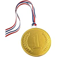 75mm gold chocolate medal (single for)