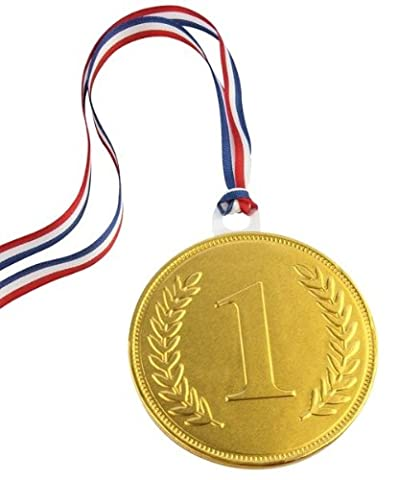 75mm gold chocolate medal (single