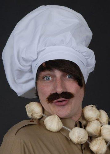 Deluxe großen überdimensionalen weißen Maxi-Chef Hut (Deluxe Chef Hut)