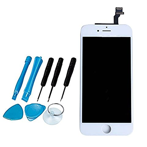 LL TRADER for iPhone 6 White LCD Display Touch Screen Digitizer Glass Lens Assembly Repair