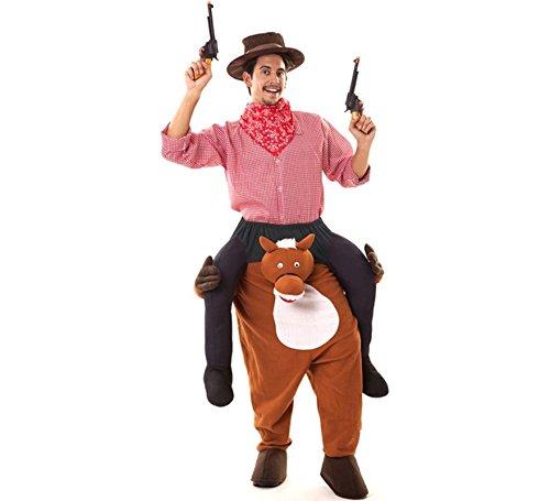 Zzcostumes Cowboy Kostüm auf Pferde Schultern für Erwachsene