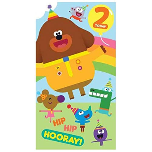 Zippy and George HD001 Geburtstagskarte zum 2. Geburtstag, Motiv Hey Duggee (George Party Supplies)
