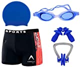 Wetex Premium Boy's Swimming Kit with 1 Shorts Trunk, 1 Anti Fog Swimming