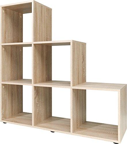Stufenregal, Holz, eiche, 32 x 105 x 106 cm
