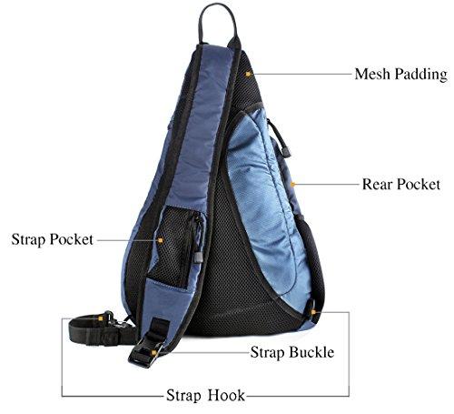 Unigear Sling Bag Pack, Chest Shoulder Crossbody Hiking Backpack Sport Bicycle Rucksack Handbag School Daypack for Men Women Boy Girl Teenagers (Blue)