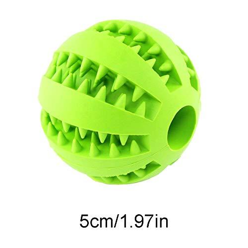 Hemore Hundespielzeug Ball für Haustiere, Zahnreinigung, Training, Kauen, Spielen, ungiftig, Weiches Gummi, IQ Leckerli-Ball, Minzgeschmack, Haustier-Bissball für Hunde und Katzen